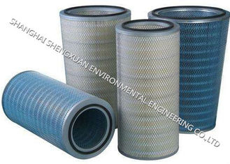 Cylindrical And Conical Pleated Filter Cartridge , Gas Filter Cartridge For Power Plants
